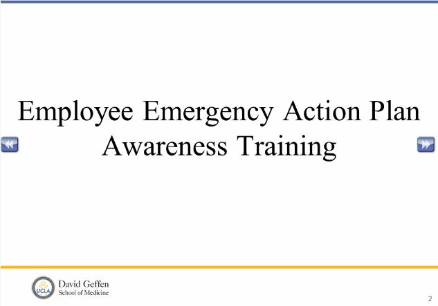 Screenshot of Employee Emergency Action Plan Awareness Training